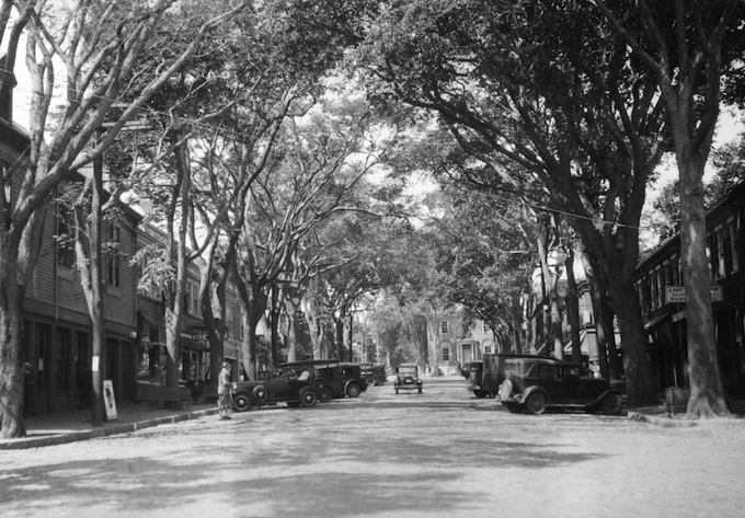 Main Street, Nantucket, Massachusetts, under a canopy of Elm trees